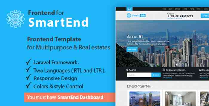 Frontend template for multipurpose & real estate