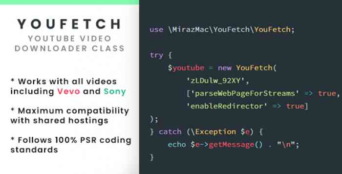 YouFetch - YouTube Video Downloader Class