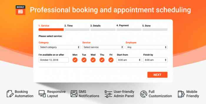 Bookly PRO v16.7 – Appointment Booking and Scheduling Software System