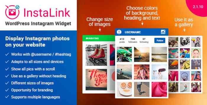 Instagram Widget v2.1.10 - Instagram for WordPress