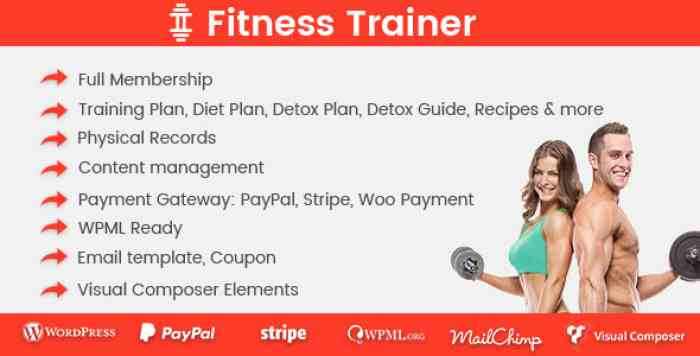 Fitness Trainer v1.2.4 - Training Membership Plugin