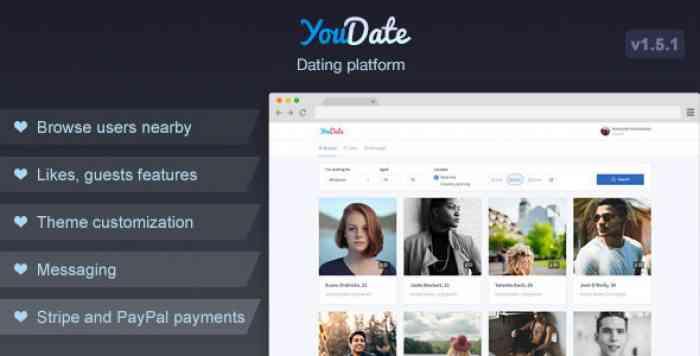 YouDate v1.5.1 - Dating Script