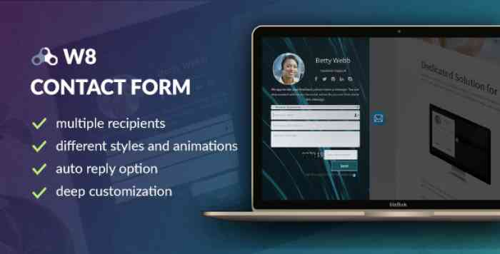 W8 Contact Form v1.5.5 - WordPress Contact Form Plugin