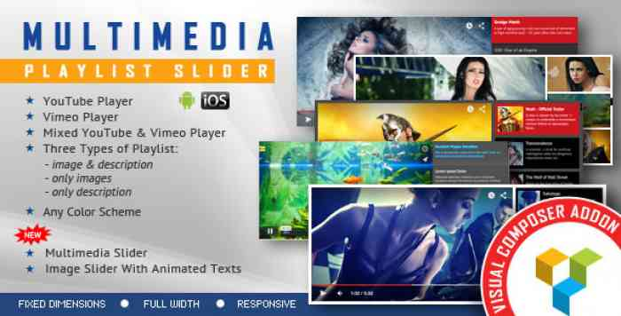 Multimedia Playlist Slider v1.6.2 – Visual Composer Addon
