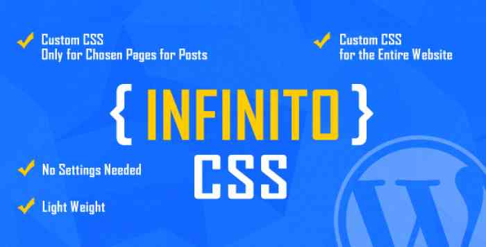 INFINITO v1.0 - Custom CSS for Chosen Pages and Posts