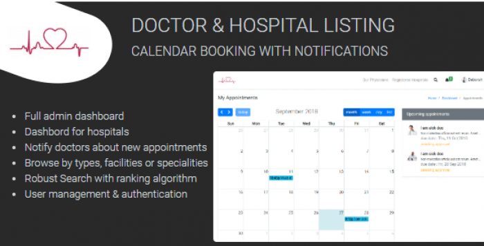 Medixa - Doctor/ Hospital Listing with Booking