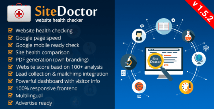 SiteDoctor v1.5.2 - Website Health Checker - nulled