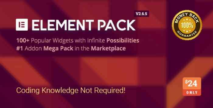 Element Pack v2.6.5 - Addon for Elementor Page Builder