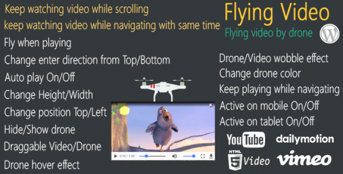 Flying Video for WordPress v2.0.0