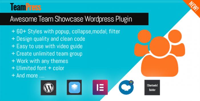 TeamPress v1.2 - Team Showcase plugin