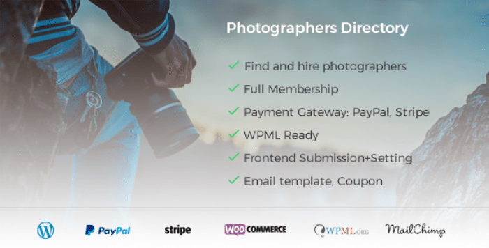 Photographer Directory v1.0.7 – WordPress Plugin
