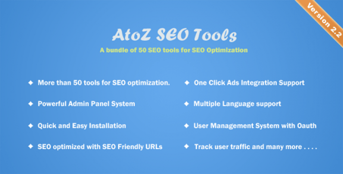 AtoZ SEO Tools v2.2 - Search Engine Optimization Tools