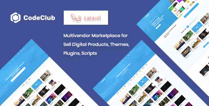 Codeclub - Multivendor Marketplace for Sell Digital Products, Themes, Plugins, Scripts - nulled