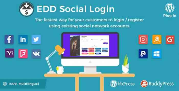 Easy Digital Downloads - Social Login v2.1.8