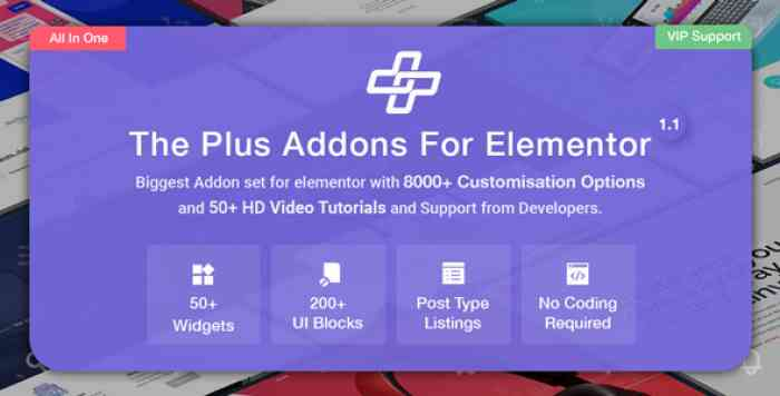 The Plus v2.0.5 – Addon for Elementor