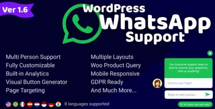 WordPress WhatsApp Support v1.6