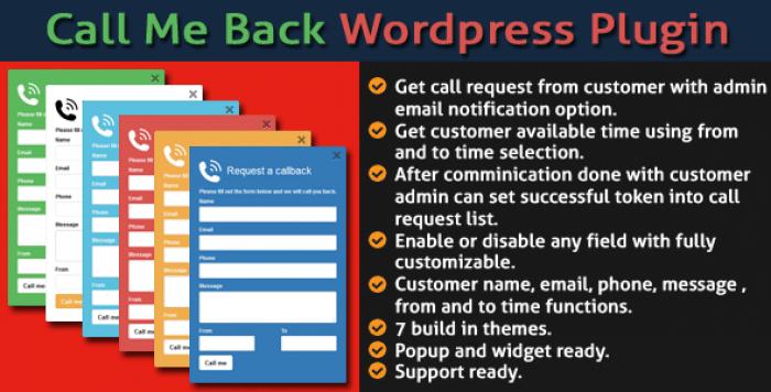 Call Me Back v2.0 - WordPress Plugin