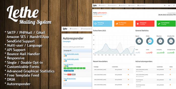 Lethe v2.2 – PHP Newsletter & Mailing System