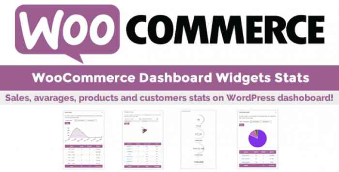WooCommerce Dashboard Widgets Stats v5.1