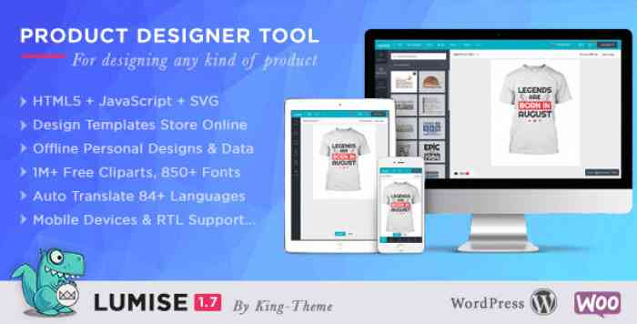 Lumise Product Designer v1.7.5 – WooCommerce WordPress