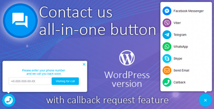 Contact us all-in-one button with callback v1.3.8
