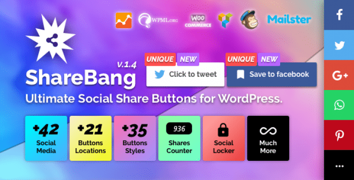 ShareBang v1.4 - Ultimate Social Share Buttons