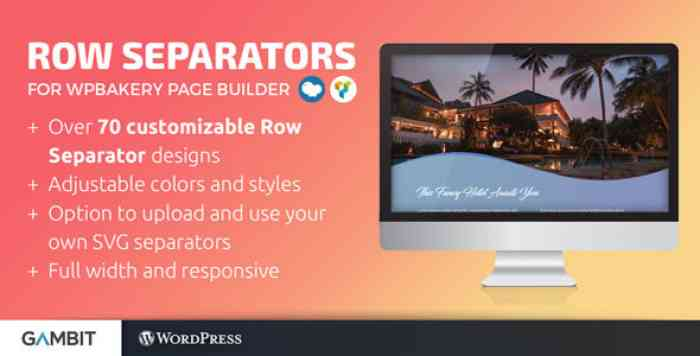 Row Separators for WPBakery Page Builder v1.4.2