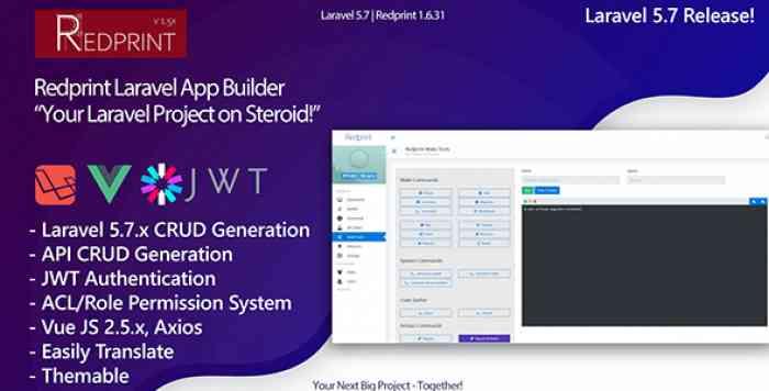 Redprint v1.6.32 - Laravel App Builder CRUD Generator Plus - nulled