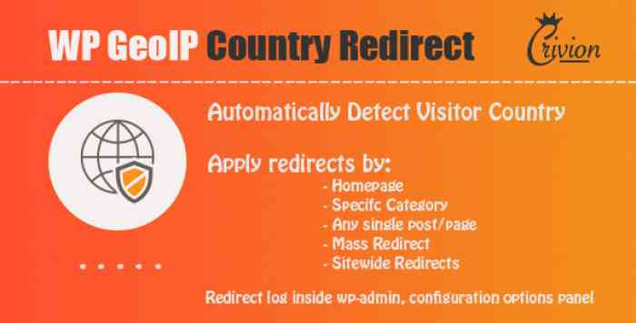 WP GeoIP Country Redirect v2.9