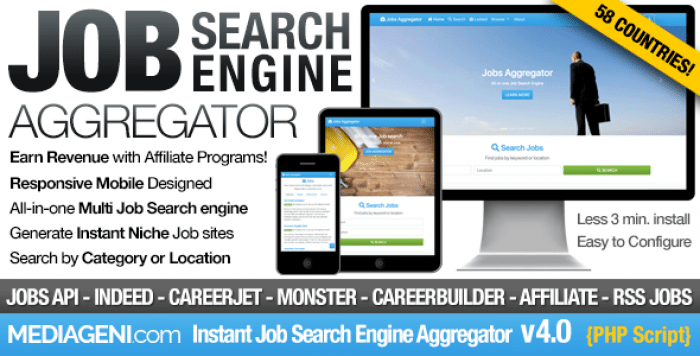 Instant Job Search Engine Aggregator v4.0