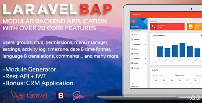 Laravel BAP v1.0.3 - Modular Application Platform and CRM