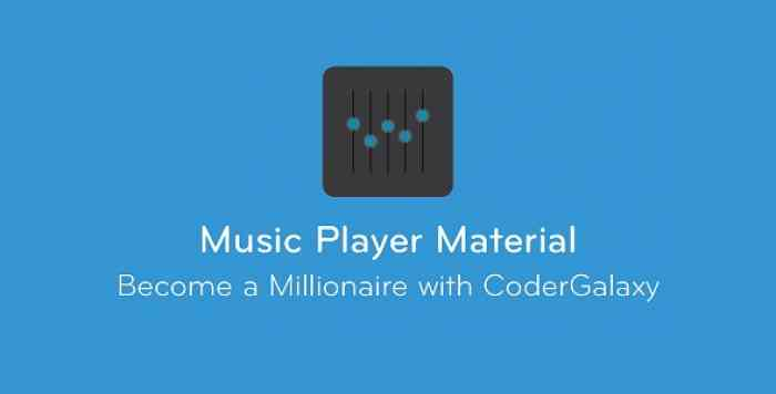 Music Player Material + Equalizer