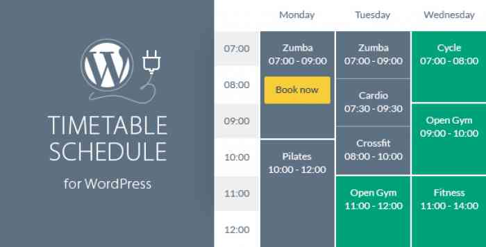 Timetable Responsive Schedule v5.8