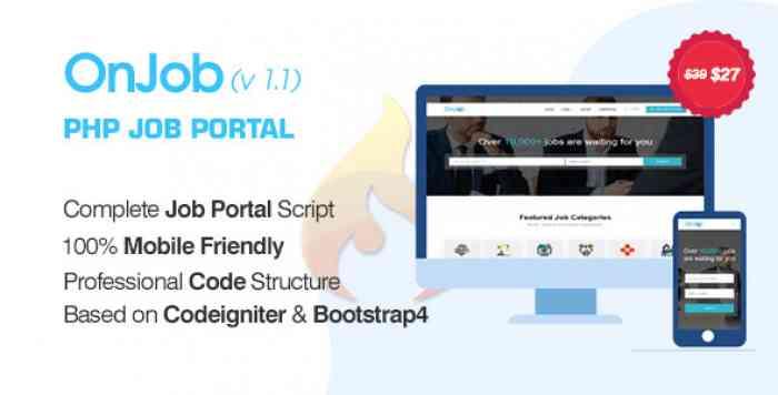 OnJob v1.1 - PHP Job Portal Application