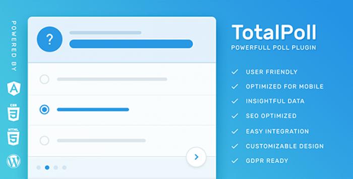 TotalPoll Pro v4.0 - WordPress Poll Plugin