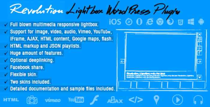 Revolution Lightbox WordPress Plugin v1.2