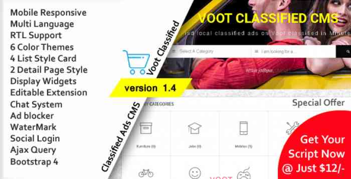Voot Classified v1.4 - Classified Ads CMS