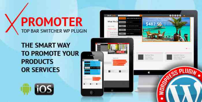 xPromoter v1.2.1.0 - Top Bar Switcher Responsive Plugin