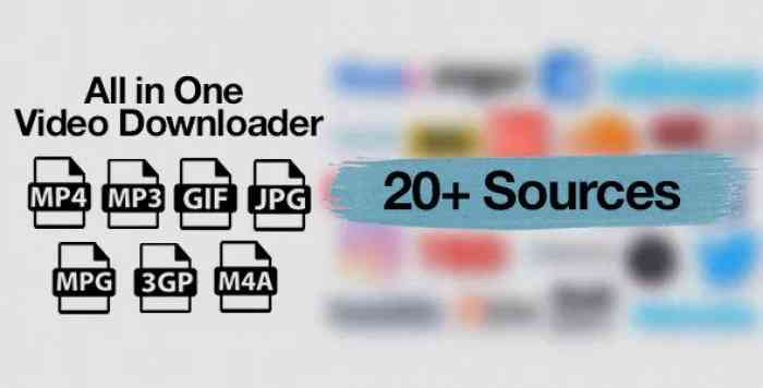 All in One Video Downloader v1.3 - Youtube and more - nulled