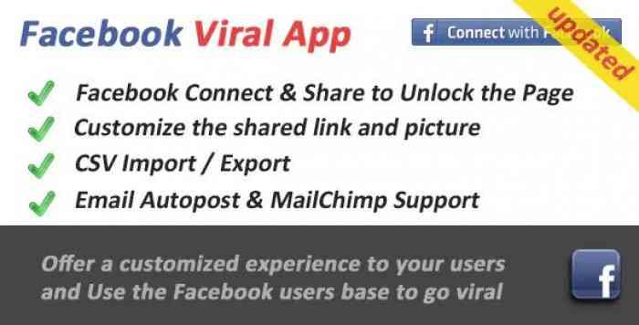 Facebook Viral and Marketing Social App v2.8.1