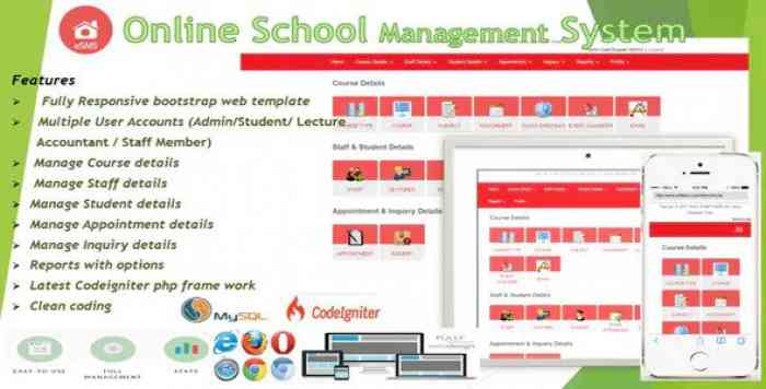 eSMS – Online School Management System