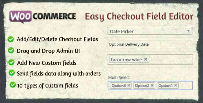 Woocommerce Easy Checkout Field Editor v1.8.1