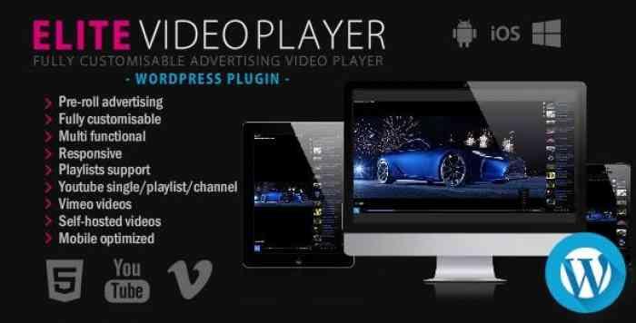 Elite Video Player v3.6 – WordPress plugin