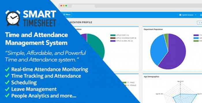 Smart Timesheet v3.7 - Time and Attendance Management System