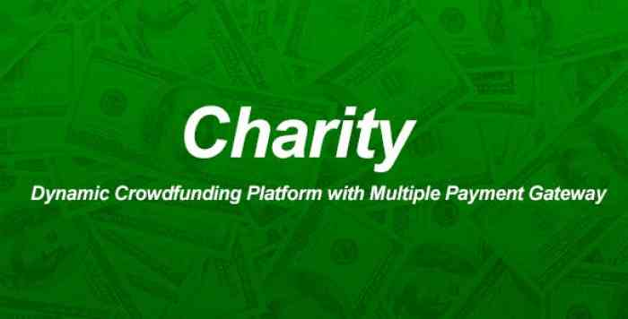 Charity v1.0 – Dynamic Crowdfunding Platform with Multiple Payment Gateway