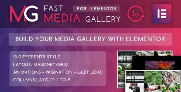 Fast Media Gallery For Elementor v1.0 – WordPress Plugin