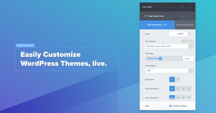 CSSHero v4.0.1 - Live Editor for WordPress