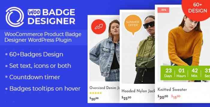 Woo Badge Designer v1.0.1 - WooCommerce Product Badge Designer WordPress Plugin