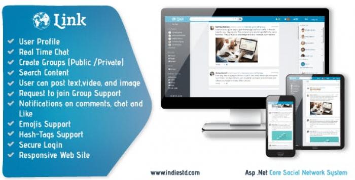 Link .Net Core MVC Social Network System
