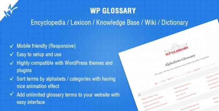 WP Glossary v2.3 - Encyclopedia, Lexicon, Knowledge Base